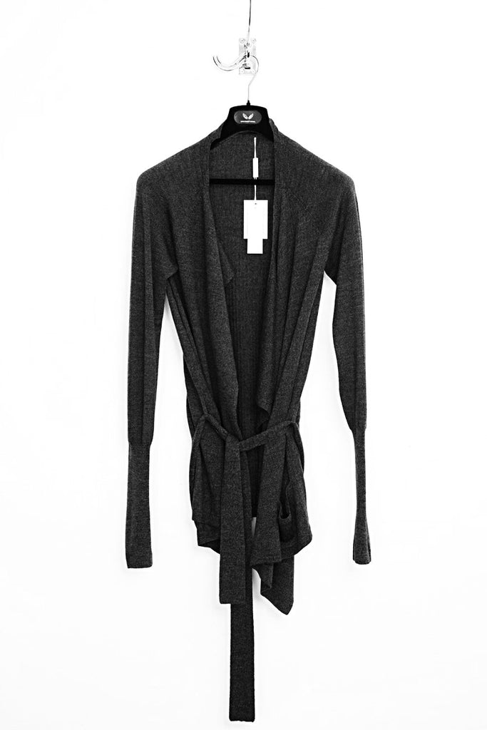 UNCONDITIONAL AW18 Black Long Sleeved Drape Cardigan