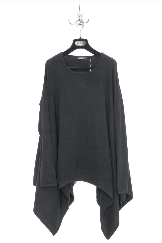 "UNCONDITIONAL Luxurious Dark Grey pure Grade A cashmere ""disco poncho"""