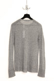 UNCONDITIONAL rock grey loose knit round neck silk cashmere sweater
