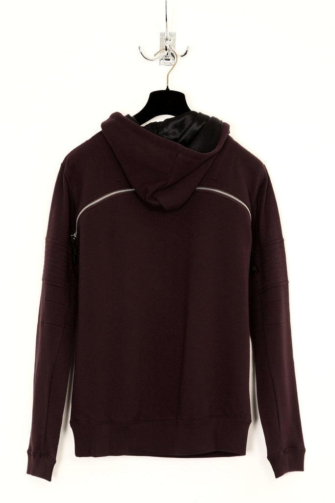 UNCONDITIONAL Grape overneck hoodie with open back zip