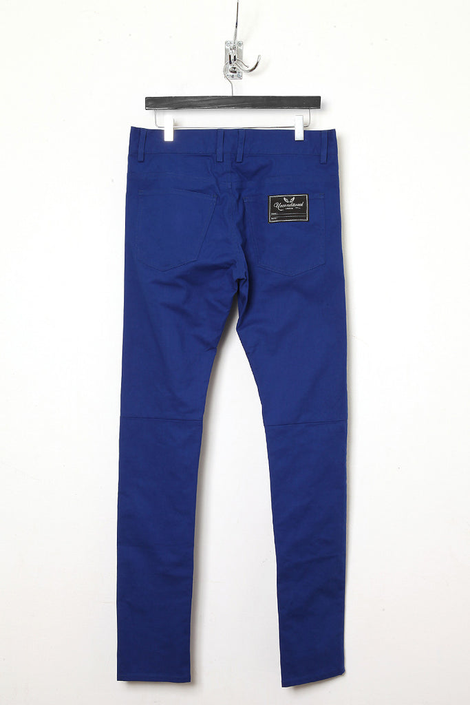 UNCONDITIONAL Montana blue cold dye stretch drill slim fit jeans.