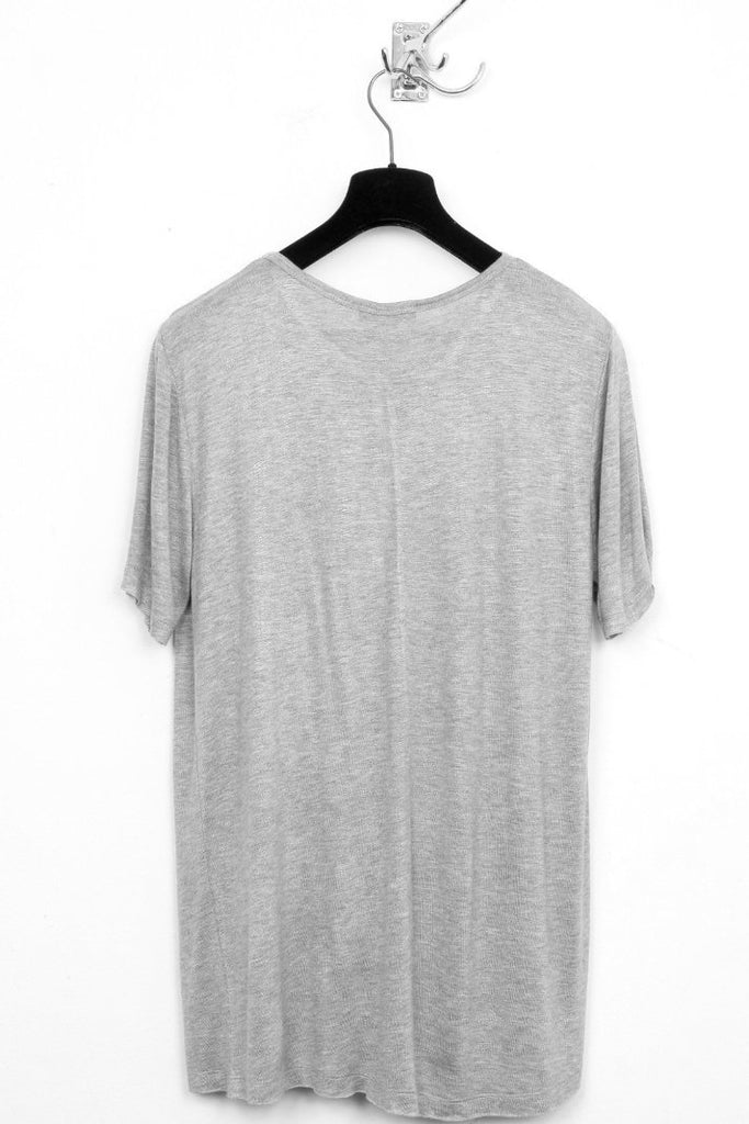 UNCONDITIONAL light FLANNEL GREY  loose knit rayon crew neck t-shirt.