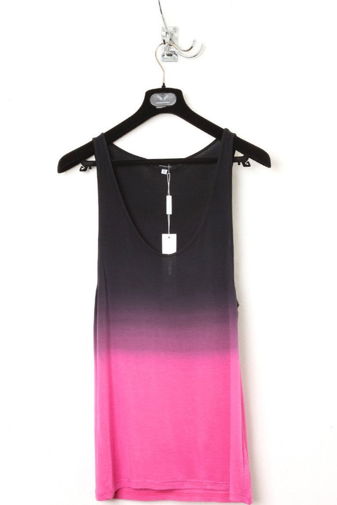 UNCONDITIONAL R59D pink dip dyed long rayon vest