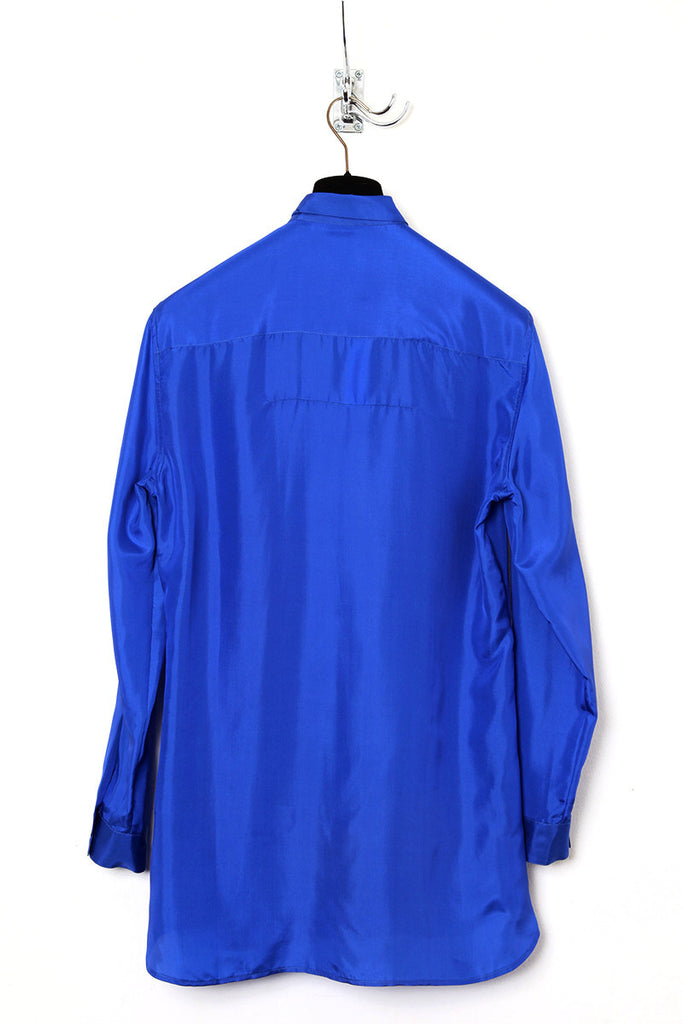 UNCONDITIONAL SS17 Electric blue washed silk  habotai shirt