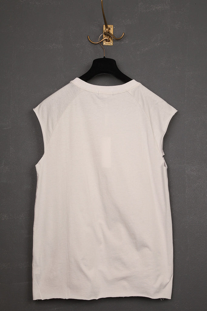 UNCONDITIONAL dirty white  sweat shirting and jersey sleeveless raglan tee