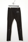 UNCONDITIONAL Black light stretch denim skinny jeans with back zips