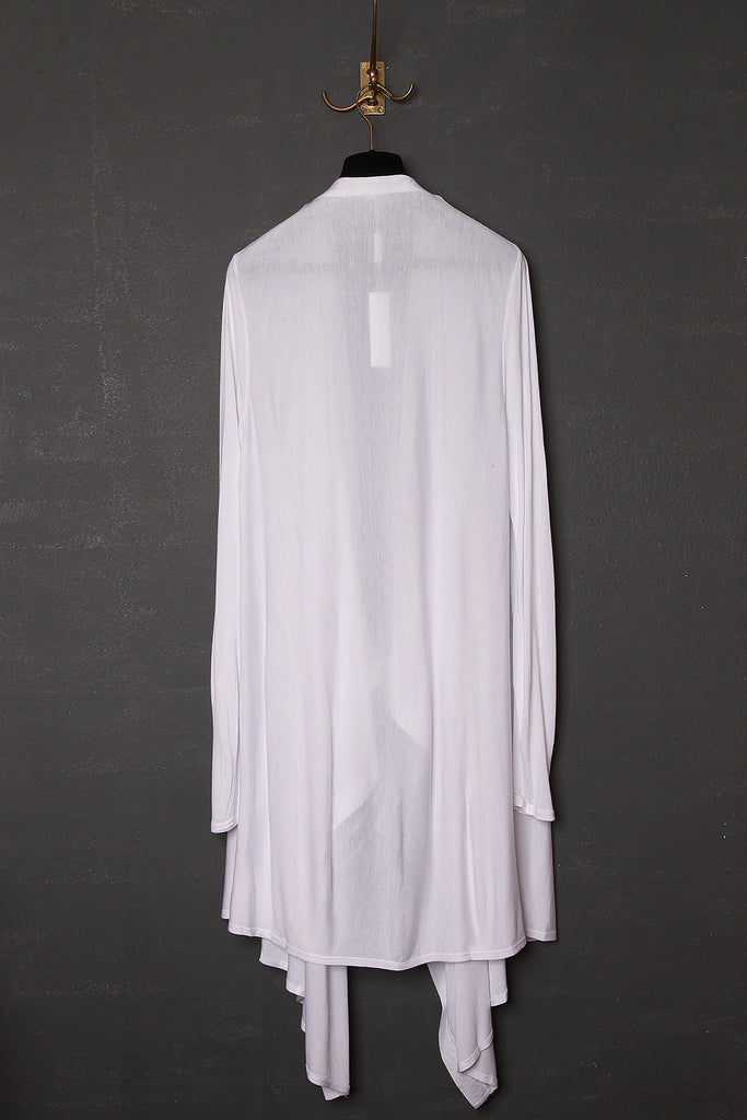 UNCONDITIONAL white rayon long drape cardigan.