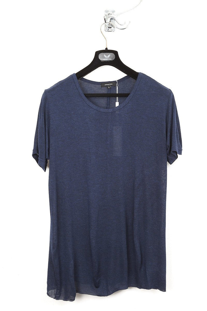 UNCONDITIONAL ink blue CASHMERE FEEL LIGHT loose knit rayon t-shirt