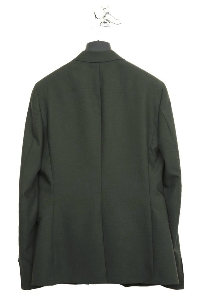 UNCONDITIONAL Dark Green pure wool 1 button reconstructed jacket.