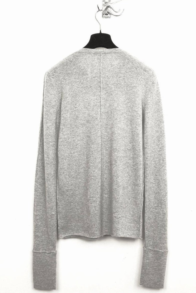 UNCONDITIONAL AW19 FLANNEL CASHMERE X-LONG SLEEVED SWEATER
