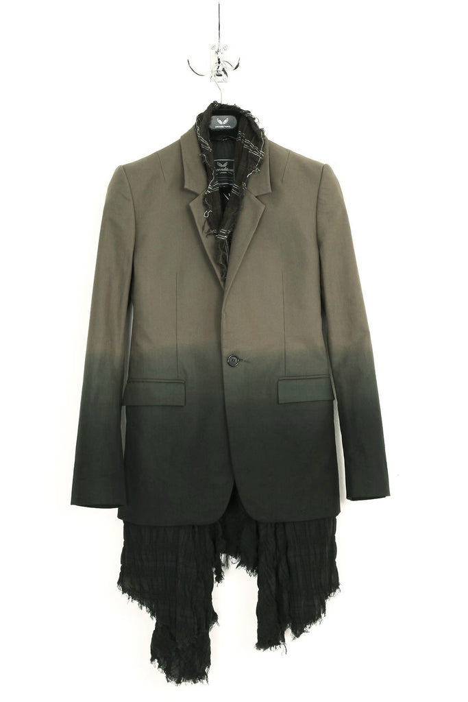 UNCONDITIONAL JACKET WITH CHECK SHIRTING NECK INSERT