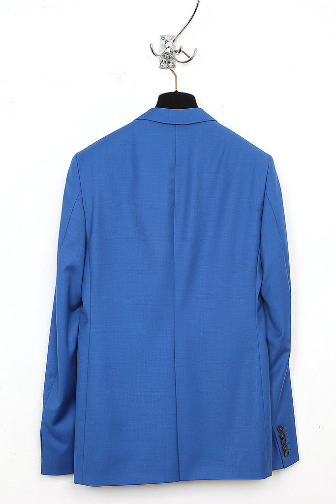 UNCONDITIONAL Electric Blue Summer Wool cutaway jacket with silk satin lining.