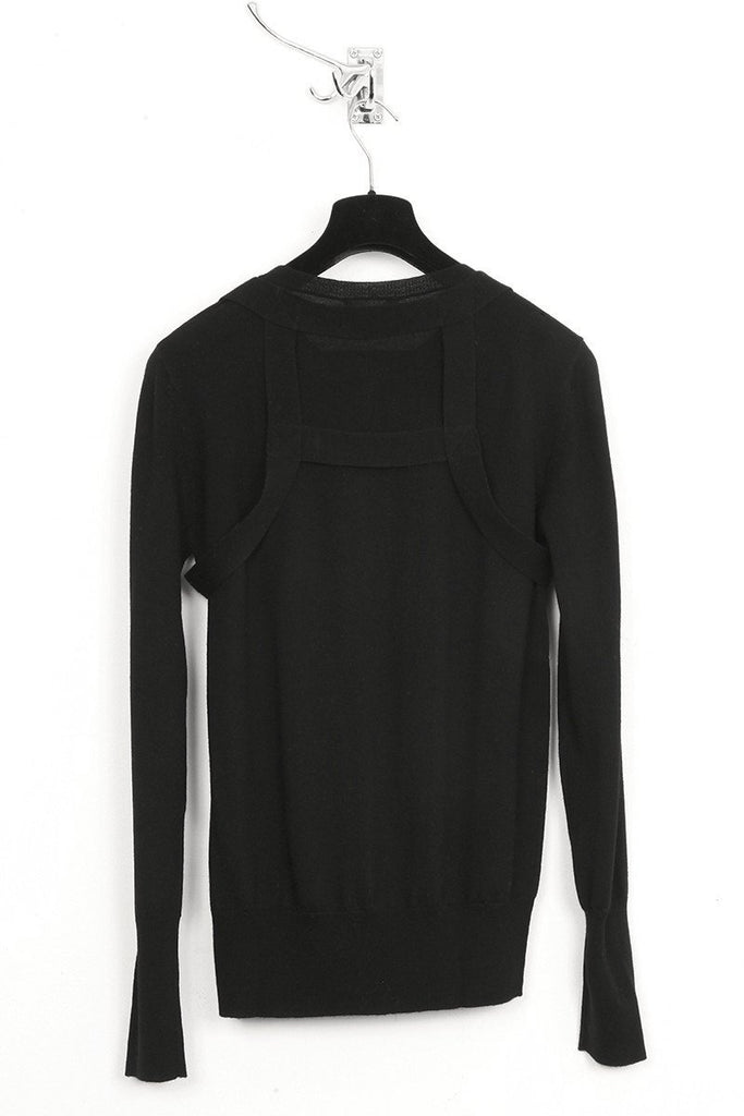 UNCONDITIONAL black crew neck jumper with detachable harness