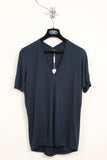 UNCONDITIONAL petrol v neck rayon T shirt