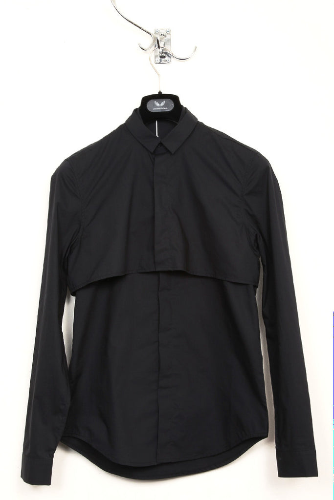UNCONDITIONAL black and black long sleeved double layer shirt.