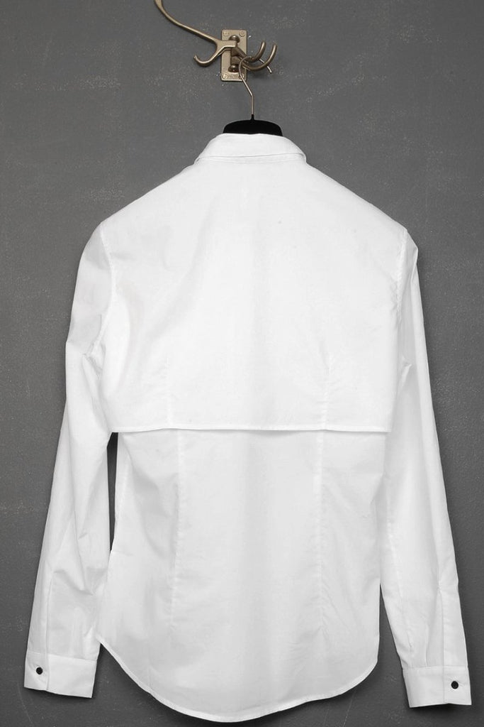 UNCONDITIONAL White long sleeved double layer shirt.