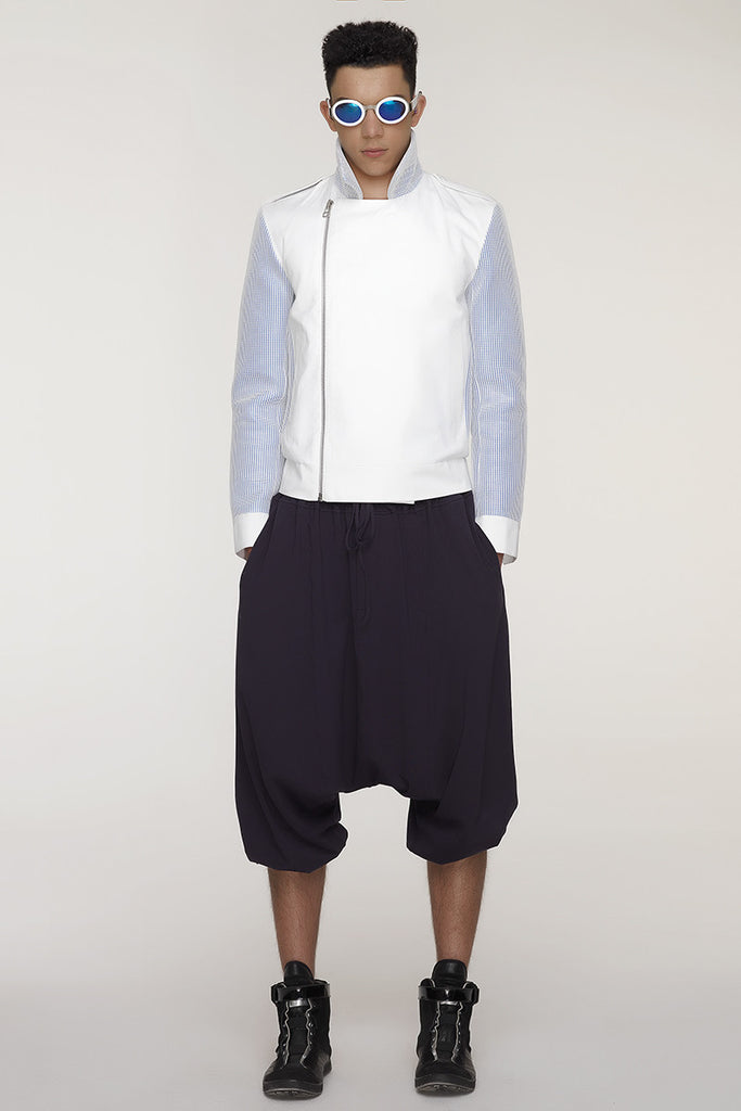 UNCONDITIONAL SS18 White elasticated cuff mens harem trousers.