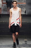 UNCONDITIONAL longer line signature Union Jack vest in cotton jersey