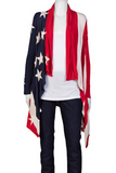 UNCONDITIONAL Signature Womens rayon American flag cardigan redone for 2017