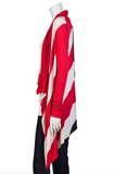 UNCONDITIONAL Signature Womens rayon American flag cardigan