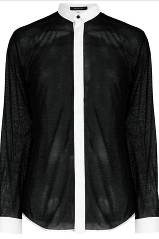 UNCONDITIONAL AW18 Black full length metallic panel front T/S tail T