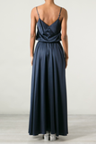 UNCONDITIONAL Midnight silk satin circular skirted camisole dress
