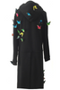 UNCONDITIONAL SS19 Black hooded zip-up butterfly embellished tailcoat