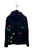 UNCONDITIONAL SS19 Womens Black hooded zip up butterfly sweatshirt