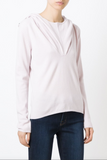 UNCONDITIONAL Womens Blush PInk Grade A cashmere 'Ghost Hoodie'