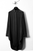 UNCONDITIONAL SS19 Black long silk crepe dress shirt with split tails