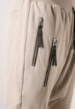 UNCONDITIONAL 'Linen' drop crotch shorts, with double zip pockets