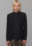 UNCONDITIONAL aw19 Black Notch collar cutaway jacket