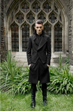 UNCONDITIONAL AW19 Black double layered long biker peacoat