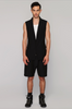UNCONDITIONAL SS19 Sleeveless signature Black 1 button jacket