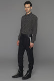 UNCONDITIONAL Black and red tailored trousers with contrast pocket detail.