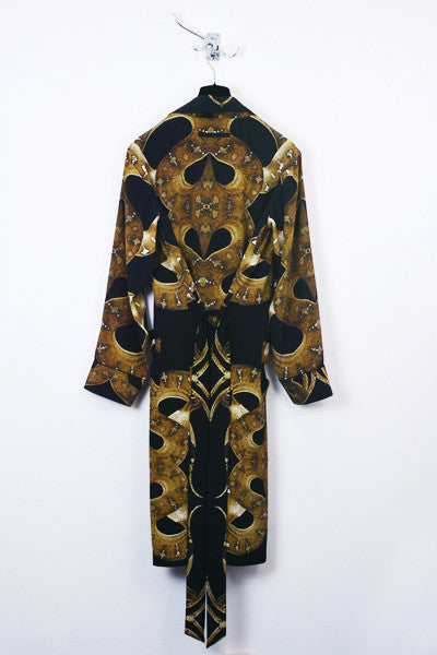 UNCONDITIONAL Silk crepe womens snake print dressing gown