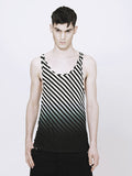 UNCONDITIONAL black | white dip dyed basic fine jersey vest FJV2