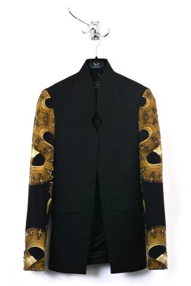 UNCONDITIONAL's AW14 snake print veiled sleeve tailored jacket