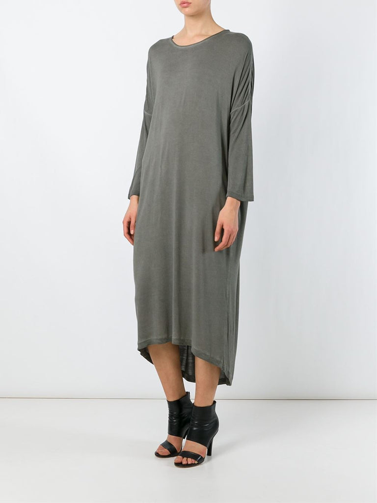 UNCONDITIONAL Military cold dye rayon tunic dress.