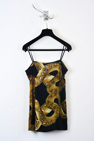 UNCONDITIONAL's Snake print pure silk crepe camisole