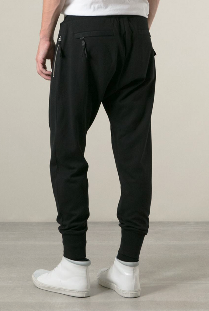 UNCONDITIONAL new military grey full length jersey trouser with zip up back pockets.