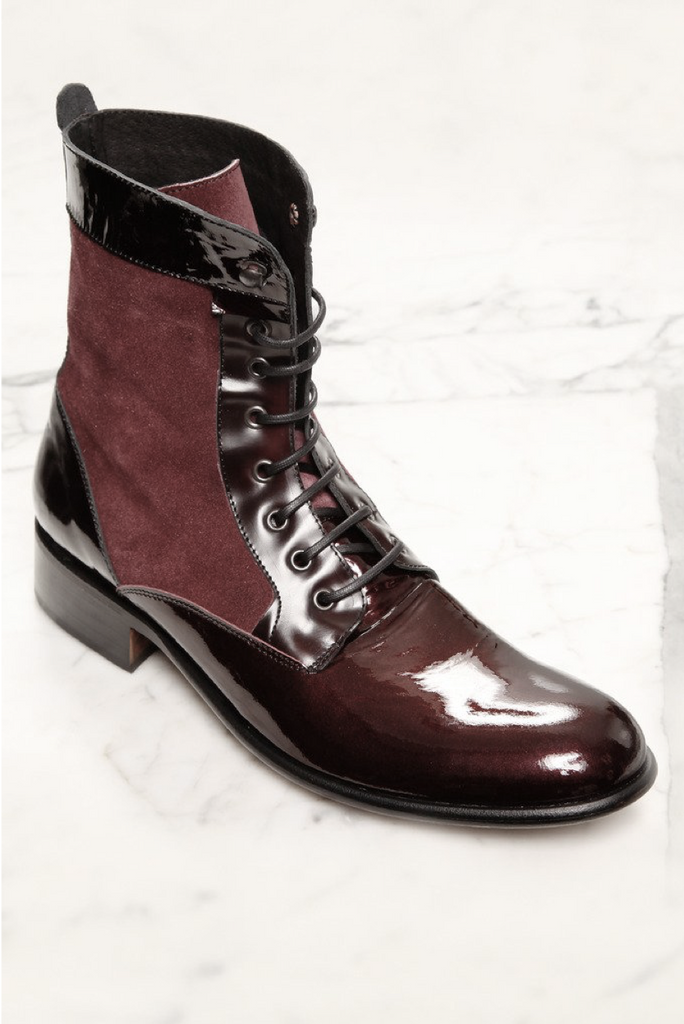 UNCONDITIONAL BURGUNDY ROCCO BOOT.