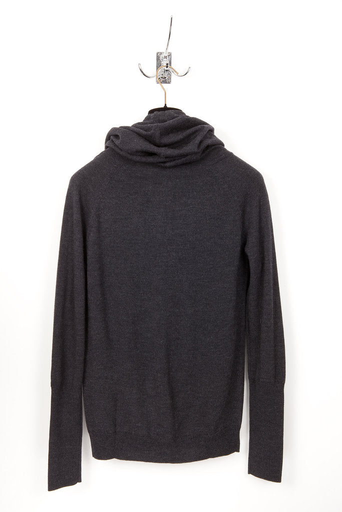 UNCONDITIONAL Anthra Grey signature Merino wool  Funnel Hoodie
