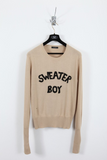 UNCONDITIONAL AW17 Camel and black silk cashmere ' SWEATER BOY ' jumper