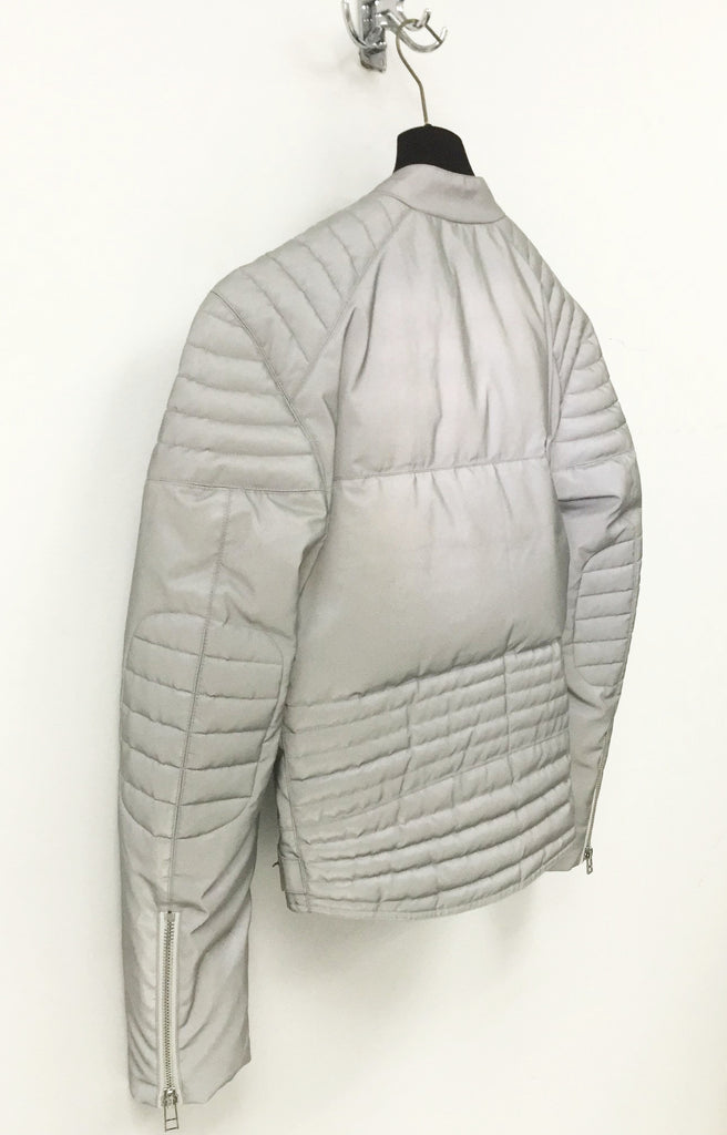 UNCONDITIONAL AW19 Womens Silver Relective down biker jacket