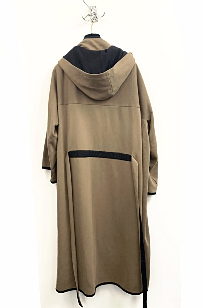 UNCONDITIONAL SS19 Caramel split side hooded coat