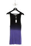 UNCONDITIONAL Purple and black top dip dye rayon vest.