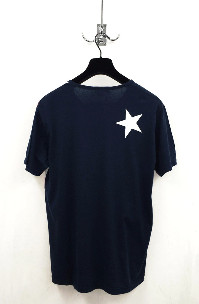 UNCONDITIONAL  American flag signature fit crew neck cotton T-shirt.