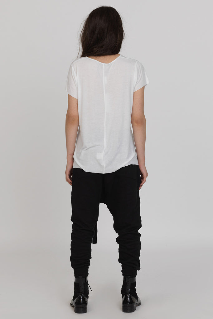 UNCONDITIONAL AW17 Womens white rayon rib T shirt
