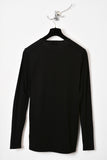 UNCONDITIONAL black long sleeved box shouldered t-shirt.